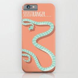 Snake card - hello stranger iPhone Case