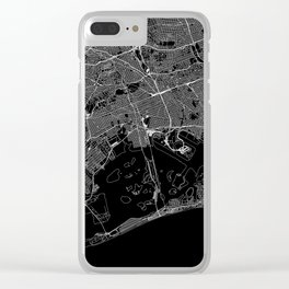 Queens Black Map Clear iPhone Case