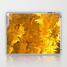 Flames of Gold Laptop & iPad Skin