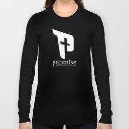 promise logo white Long Sleeve T-shirt