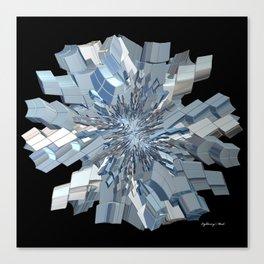 Fractal Snowflake Canvas Print