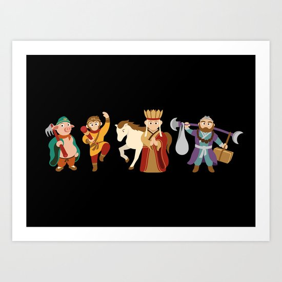 Journey To The West - the guardians Art Print