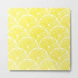 Lemon slices pattern design II Metal Print