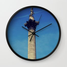 Nelsons Column vintage style photo. Wall Clock