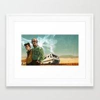 breaking bad Framed Art Prints featuring Breaking Bad by Adrien ADN Noterdaem