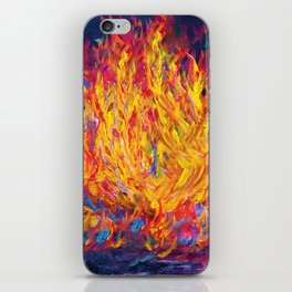 Fire and Passion - Here's to New Beginnings iPhone Skin