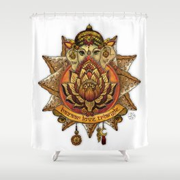 Keep Korma and Curry On Shower Curtain