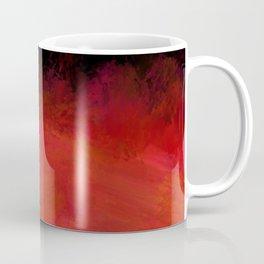 Abstract Red Black Dark Matter Coffee Mug