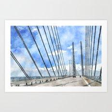 Öresund bridge Art Print