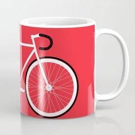 Red Fixed Gear Bike Coffee Mug