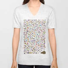 Animal Crossing New Leaf All Villagers Unisex V-Neck