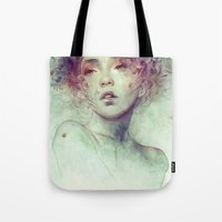 kpop Tote Bags featuring Swarm by Anna Dittmann