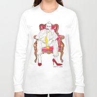 heels Long Sleeve T-shirts featuring High Heels by Crafty Love Studio