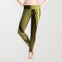 Abstract Fractal Colorways 02 Simple Gold Leggings