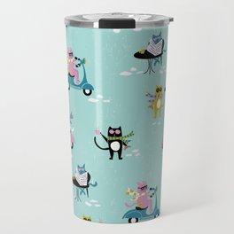 Caffeinated Cats Travel Mug