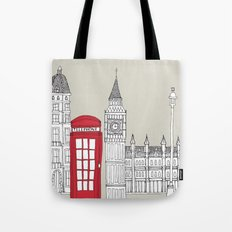 London Red Telephone Box Tote Bag