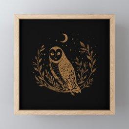 Owl Moon - Gold Framed Mini Art Print