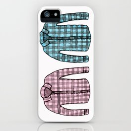 Flannel shirts iPhone Case