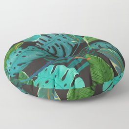 nature leaves Floor Pillow