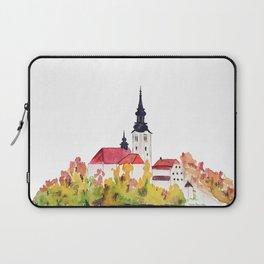 Slovenia Bled Lake pilgrimage church Laptop Sleeve