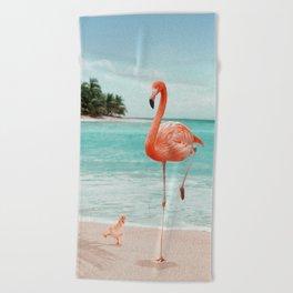 WANNABE FLAMINGO Beach Towel