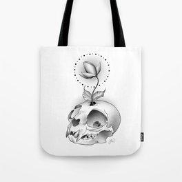 Skull Flower Tote Bag