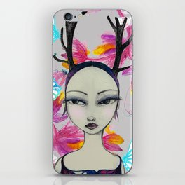 Fawn Woodland Gal iPhone Skin