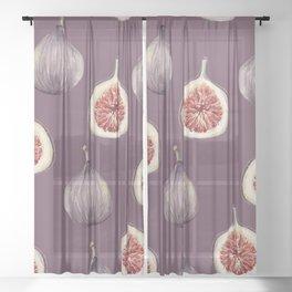 Figs 2  #society6 #buyart Sheer Curtain