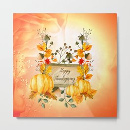 Happy thanksgiving Metal Print
