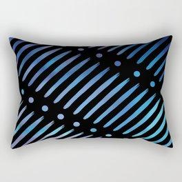 Blue Dots & Dashes Rectangular Pillow