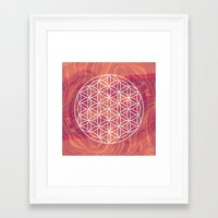 flower of life Framed Art Prints featuring Life Flower by shutupbek