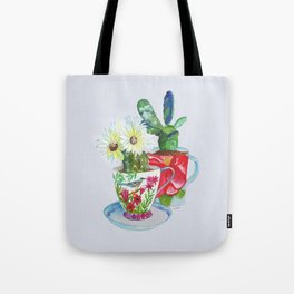 Cacti In Cups Tote Bag