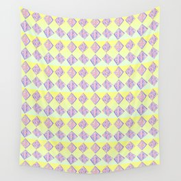 square abstraction-mutlicolor,abstraction,abstract,fun,rectangle,square,rectangled,geometric,geometr Wall Tapestry