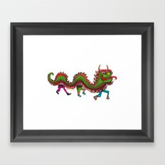 Happy Year of the Dragon  Framed Art Print