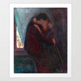 Edvard Munch - The Kiss, 1897 Art Print