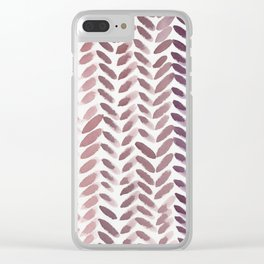 Berry Wheat Clear iPhone Case