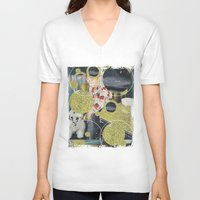 pony V-neck T-shirts featuring PONY by WeLoveHumans