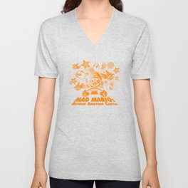 Mad Mario: Beyond Another Castle Unisex V-Neck