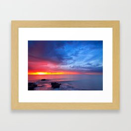 Sunset Ocean Framed Art Print