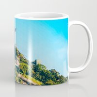christ Mugs featuring Christ Redeemer by Edgard Mello