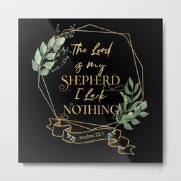 Christian Bible Verse Typography Quote Metal Print