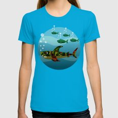 Le Requin Womens Fitted Tee SMALL Teal