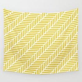 Herringbone 45 Yellow Wall Tapestry