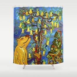 """""""Xochipilli's Golden Child"""" by ICA PAVON Shower Curtain"""