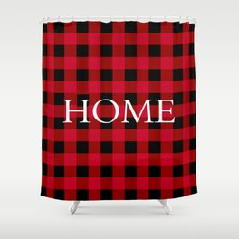 Home Red Buffalo Check Shower Curtain