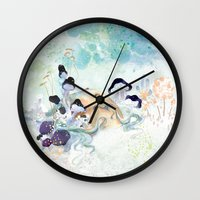 mushroom Wall Clocks featuring mushroom by ARTION