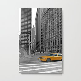 NYC Yellow Cabs Trinity Place - USA Metal Print