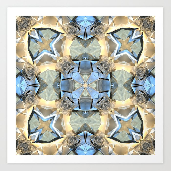 Reflections of Blue And Gold Art Print