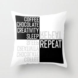 Typographic Design CREATIVE LIFESTYLE Throw Pillow