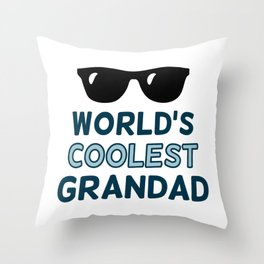 World's Coolest Grandad Throw Pillow